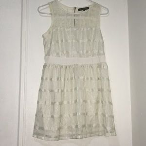 Finn & Clover White Lace Patterned Dress